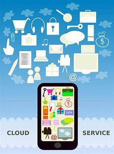 Mobile Cloud Mobile Cloud Service Stock Vector Illustration Of