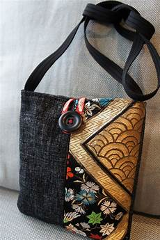 made bag made from japanese obi kimono fabric