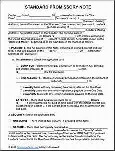 Unsecured Promissory Note Template 5 Unsecured Promissory Note Template Sampletemplatess