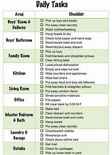 List Of House Chores Daily Chore Checklist For Family Of Four Parenting