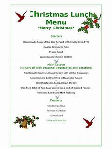 Free Blank Christmas Menu Templates Christmas Menu Template 17 Free Templates In Pdf Word