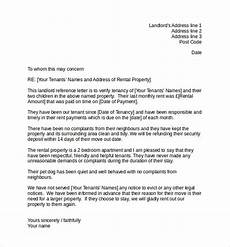 Tenant Letter Of Recommendation 10 Landlord Reference Letter Templates Samples
