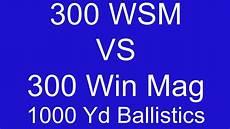 300 Wsm Ballistics Chart 300 Wsm Vs 300 Win Mag 1000 Yard Ballistic Comparison