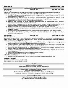 Collection Resume Examples Collections Resume Example