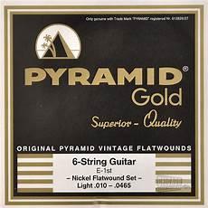 Light Gauge Flatwound Guitar Strings Pyramid Gold Flatwound Light Electric Guitar Strings 10