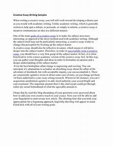 English Essay Writing Examples Creative Essay Writing Samples