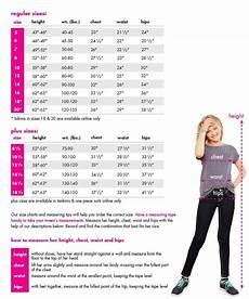Swim And Sweat Size Chart Size Chart For Swim