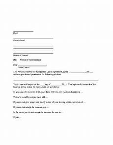 Increase Rent Notice 21 Printable Late Rent Notice Template Forms Fillable