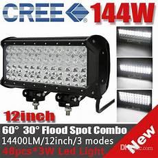 48 Cree Led Light Bar 12 144w Cree 48 Led 3w Work Light Bar Off Road Suv Atv 4wd