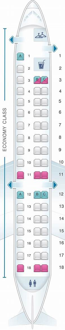 American Eagle Seating Chart Seat Map American Airlines Embraer Erj 145 Seatmaestro