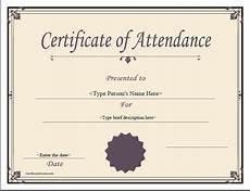 100 Attendance Certificate Template Special Certificates Attendance Certificate