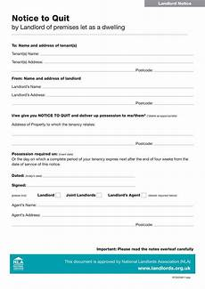 Tenant Notice To Quit Template 45 Eviction Notice Templates Amp Lease Termination Letters