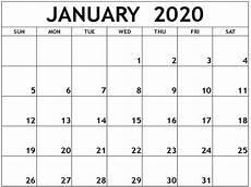 January Editable Calendar 2020 Free Editable January Calendar 2020 Printable Template