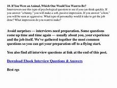 Sample Job Interview Answers Job Interview Questions And Answers Sample