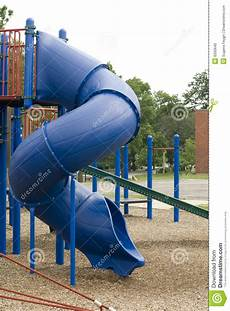 Blue Slides Blue Playground Slide Stock Photo Image Of Fall Park