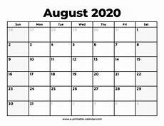 August 2020 Calendar With Holidays August 2020 Calendar Free Download Aashe