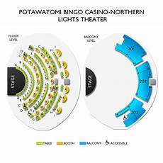 Potawatomi Northern Lights Casino Potawatomi Bingo Casino Northern Lights Theater Seating