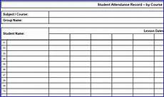Student Attendance Template Printable Free Print Attendance Sheet Download Your Free Printable