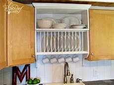upgrade cabinets by building a custom plate rack shelf