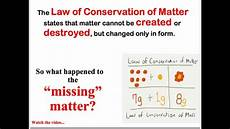 The Law Of Conservation Of Energy Law Of Conservation Of Matter Notes Youtube