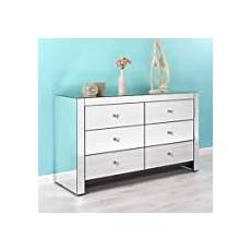 venetian mirrored furniture large chest of drawers