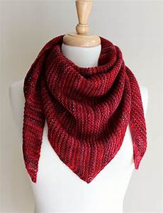 free knitting patterns truly triangular scarf
