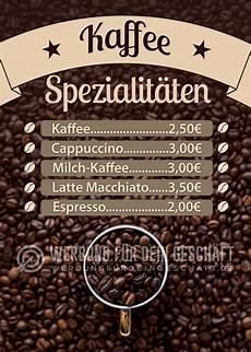kaffe plakat kaffee spezialit 228 ten poster werbebanner f 252 r dein cafe