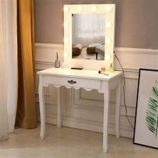 zimtown white vanity set makeup dressing table with 10