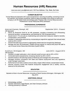 Human Resource Resume Objective Human Resources Resume Sample Amp Writing Tips Resume