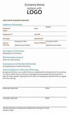 Employee Warning Template Employee Warning Notice Template Sample