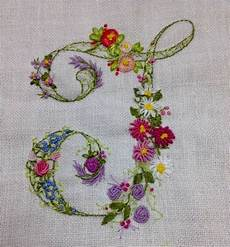embroidered floral monogram embroidery letters