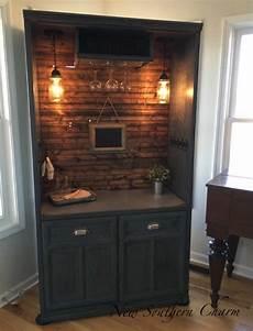 armoire bar cabinet coffee bar station bar repurposed etsy