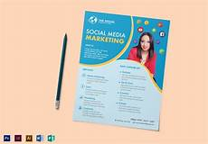 Example Of Flyers For Advertising Social Media Marketing Flyer Design Template In Psd Word