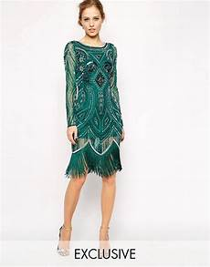 Frock And Frill Size Chart Frock And Frill All Over Embellished Dress With Tassel Hem