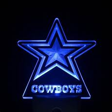 Dallas Cowboys Light Up Dallas Cowboys Star 4 Quot By 4 Quot Led Night Sensing Light