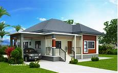 simple and small house design with 3 bedrooms and
