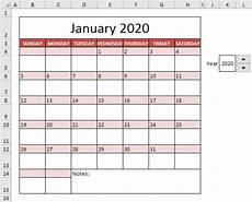 February 2020 Calendar Template Excel Calendar Template In Excel Easy Excel Tutorial