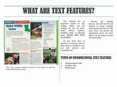 Informational Powerpoint Ppt Types Of Informational Text Features Organizational