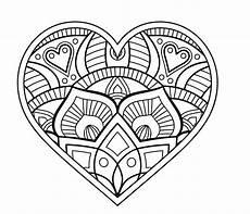 Ausmalbilder Erwachsene Herz Mandala Herz Malvorlagen Mandalas Zum Ausdrucken