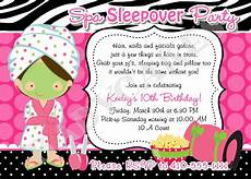 Sleepover Invitation Printable Spa Sleepover Party Birthday Invitation Diy Print By