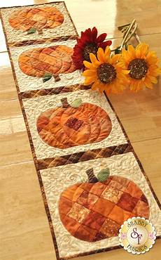 patchwork pumpkin table runner pattern shabby fabrics