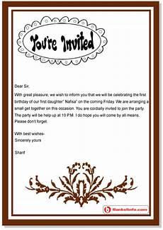 Birthday Invitation Letter Birthday Invitation Letter Sample