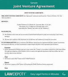 Joint Venture Contract Joint Venture Agreement Free Joint Venture Forms Us