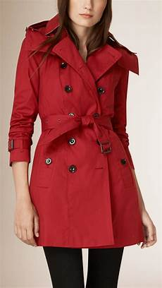 hooded trench coats for burberry hooded cotton trench coat with warmer in damson