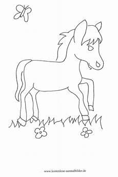 Ausmalbilder Pferde Haflinger Kostenlose Ausmalbilder Ausmalbild Pferd Auf Der Weide