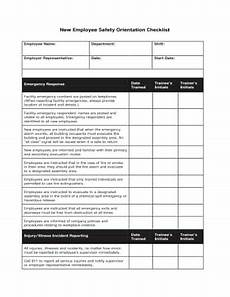 Orientation Checklist 13 Employee Orientation Checklist Templates Word Excel