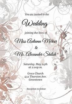 Free Wedding Template Invitations Fabulous Free Wedding Invitation Templates