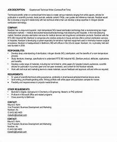Technical Writing Example Free 9 Sample Technical Writer Job Description Templates