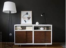 apartment ikea besta mid century modern cabinet hack