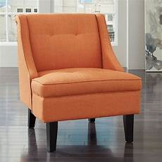 orange accent chair clarinda orange accent chair by signature design by